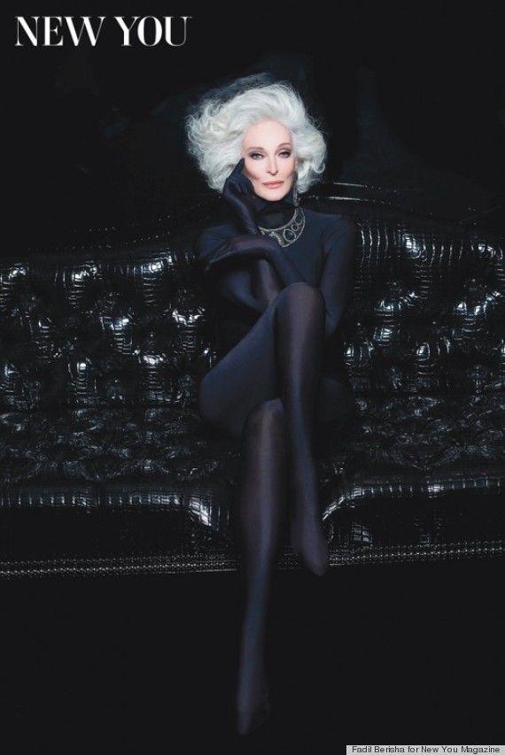 Carmen Dell'Orefice , fotomodel la 82 de ani!