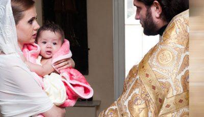 Lenuța Burghilă și-a botezat nepoțica!