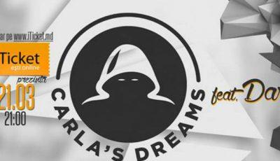 """Vino vineri, 21 martie la un concert live """"Carla's Dreams feat. Dara"""" marca iTicket"""