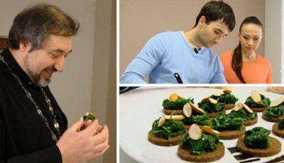 Bucătarul Petru Scalețchi gătește bucate de post pentru părintele Ioan Ciuntu!