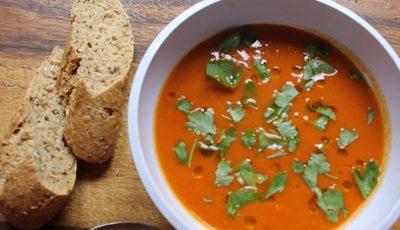Supă de dovleac copt, cu rozmarin şi chimen