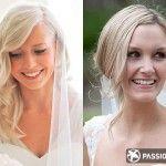 Coafură de mireasă pentru părul cu lungime medie