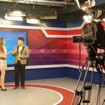 Foto: O moldoveancă a ajuns vedetă la o televiziune din China!