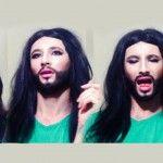 "Foto: Exclusiv! Emilian Crețu, în rolul ""Conchita Wurst"""