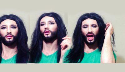 "Exclusiv! Emilian Crețu, în rolul ""Conchita Wurst"""