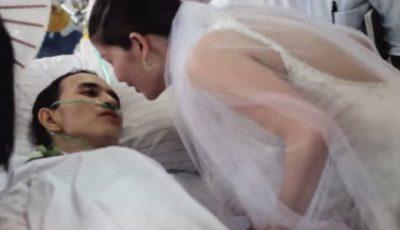 Imagini emoționante! S-au căsătorit cu 10 ore înainte ca mirele să moară