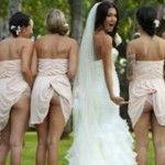 Foto: Toți le critică! O nouă modă pentru domnișoarele de onoare!