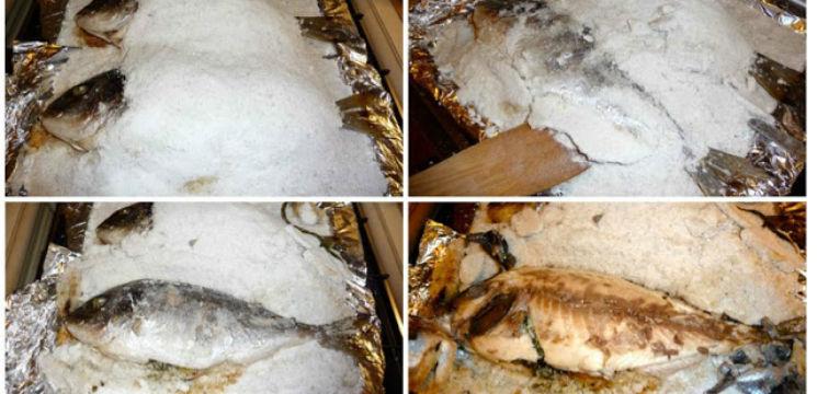 Foto: Doradă cu ierburi pe pat de sare! O rețetă ușoară și puțin calorică