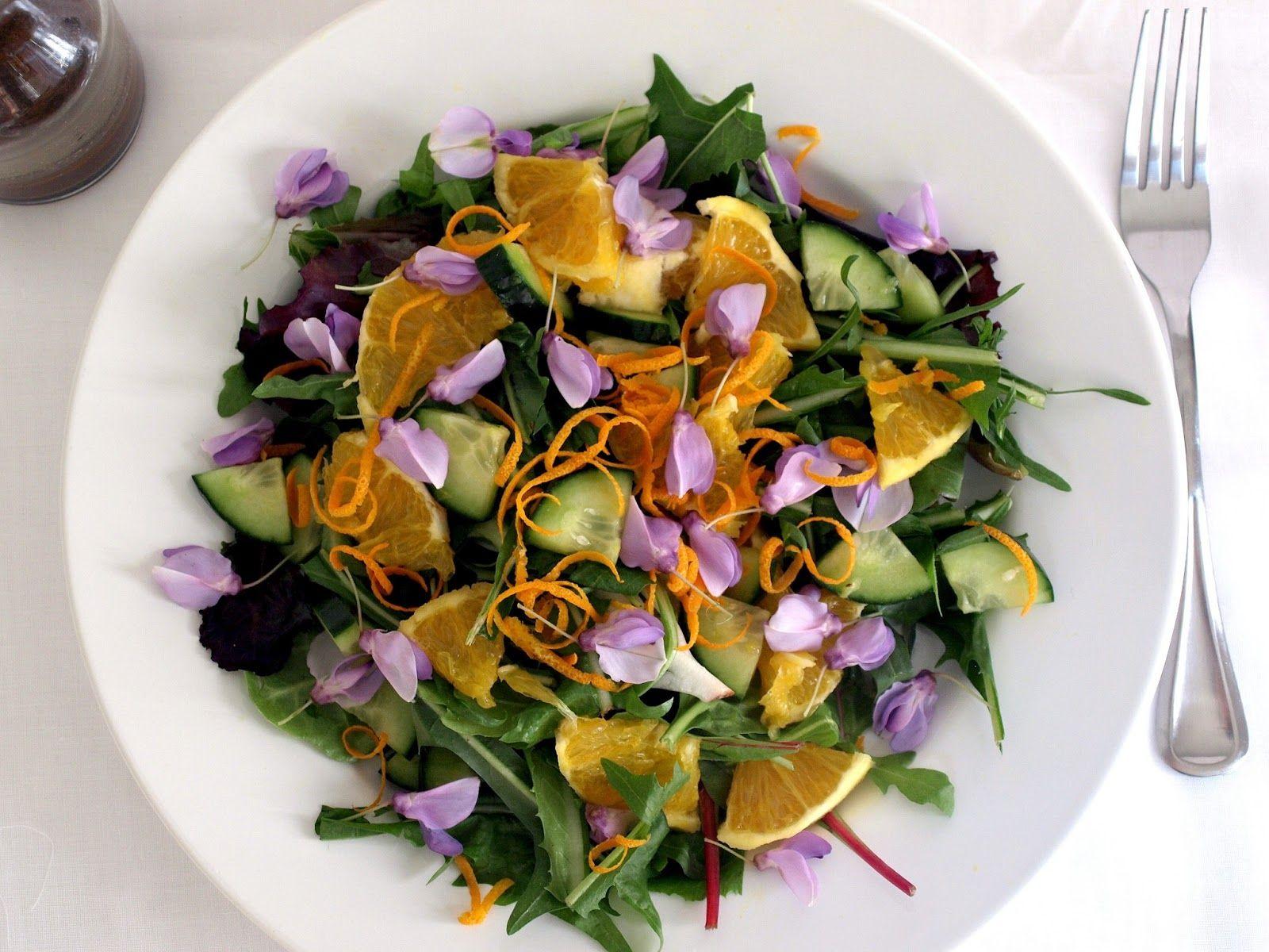 блюда из цветов фото