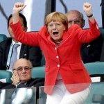 Foto: Angela Merkel, fan numărul 1al echipei Germaniei. Vezi cum s-a bucurat din tribune!