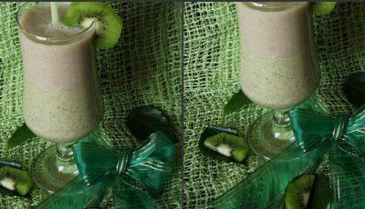 Smoothie cu kiwi și banane
