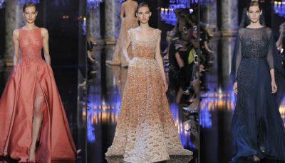 Te orbesc! Elie Saab vine cu o colecție de rochii bătute cu perle!