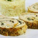 Foto: Ruladă de pui cu spanac și brânză