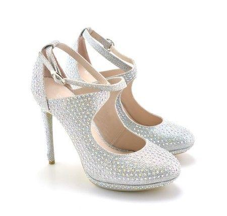 Sandale cu strasuri pentru nunta