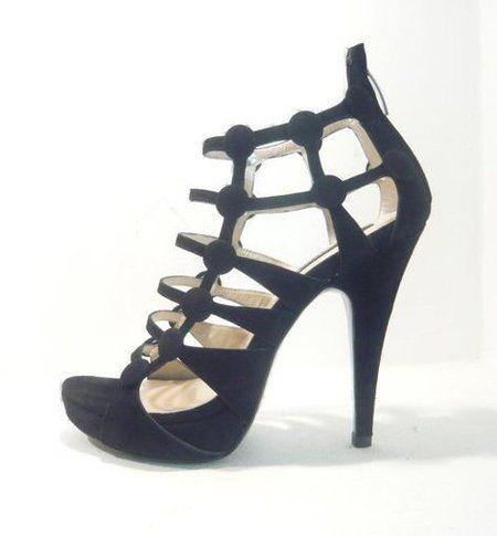 Sandale negre pentru petrecerea de nunta 2