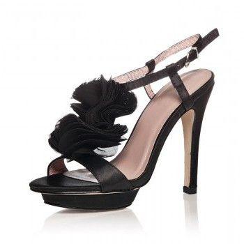 Sandale negre pentru petrecerea de nunta