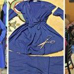 Foto: A transformat hainele second-hand în rochii elegante!