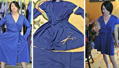 A transformat hainele second-hand în rochii elegante!