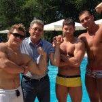 Foto: Mihai Ghimpu și-a arătat mușchii la piscină!