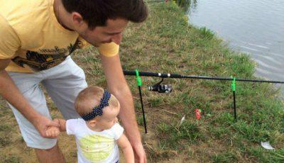 Radu Sîrbu și-a învățat fetele să pescuiască!