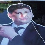 Foto: Ce caută portretul lui Nicu Țărnă pe taxi-urile din oraș?