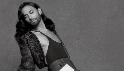 Conchita Wurst a pozat în lenjerie intimă pentru Karl Lagerfeld!