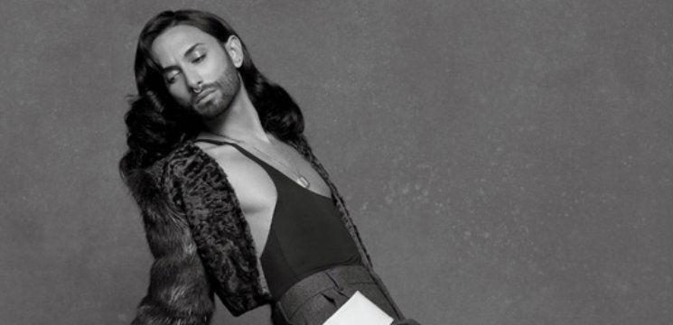 Foto: Conchita Wurst a pozat în lenjerie intimă pentru Karl Lagerfeld!