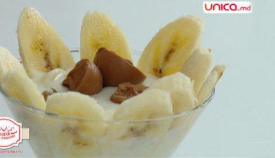 Un desert pentru sportivi și oamenii activi! Cremă de banane!