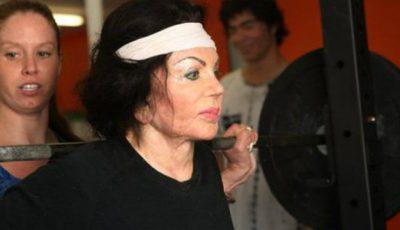 La 92 de ani, mama lui Sylvester Stallone se antrenează la sală!