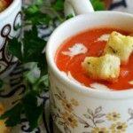 Foto: Supă cremă de ardei copți