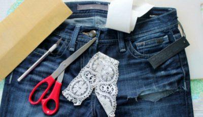 Transformă-ți jeanșii vechi într-o pereche de pantaloni scurți originali!