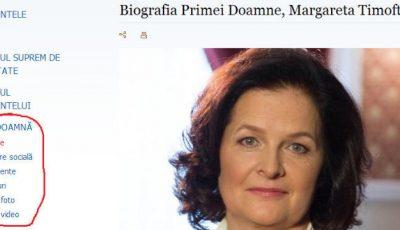 Prima Doamnă este foarte activă pe site-ul oficial al Preşedinţiei! Are chiar și o rubrică proprie!