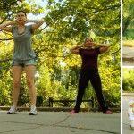 Foto: Cum reacționează oamenii în stradă când îi inviți să facă sport!