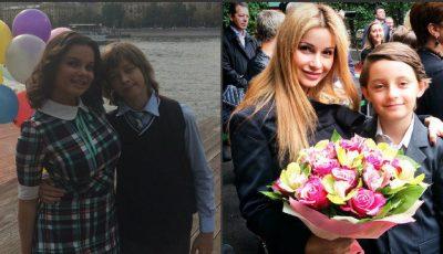 Vera Brejneva, Polina Gagarina și Natașa Koroliova și-au dus copii la 1 septembrie! Poze