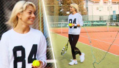Video! Natalia Gordienko a participat la Campionatul de Tenis