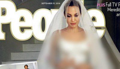 Așa arată rochia de mireasă a Angelinei Jolie! Copiii i-au desenat voalul!