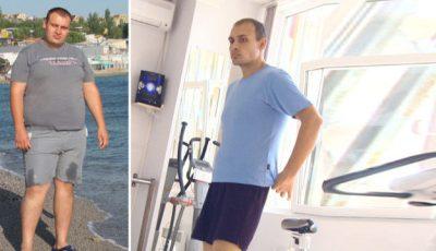 Acum un an acest moldovean cântărea cu 45 de kilograme în plus!