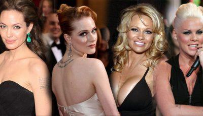 Top cele mai sexy celebrități tatuate. Vezi unde!