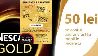 Nescafe Gold te premiază cu lingouri de aur şi călătorii la Paris!
