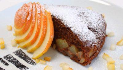 Un desert vaporos: Tort cu ciocolată și pere