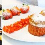 Foto: Brioșe cu gem de căpșuni