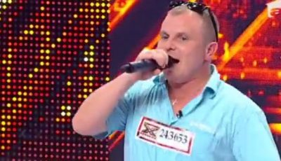 Un moldovean a venit la X Factor cu o bucățică de mămăligă!