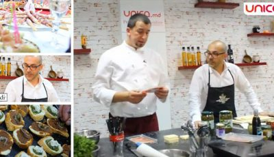 Bruschete italiene gătite de echipa Unica.md. Așa trebuie să arate o masă festivă!
