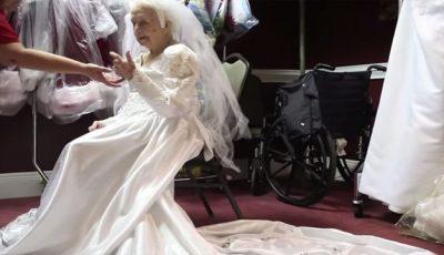 A hotărât să fie mireasă la 100 de ani! Video