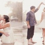 Cele mai frumoase poze în ploaie de la nunți