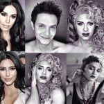 Foto: Vezi cum se transformă un tip în 16 celebrităţi de la Hollywood!