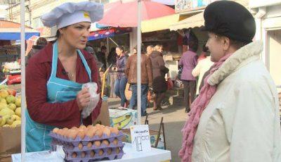 Actrița Margareta Pîntea vinde ouă la piață!