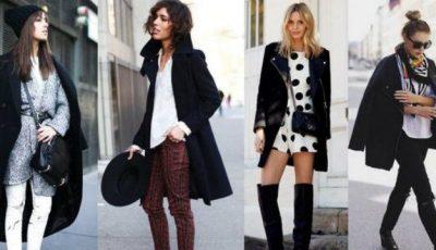 Cum poți purta un palton negru ca să fii trendy!
