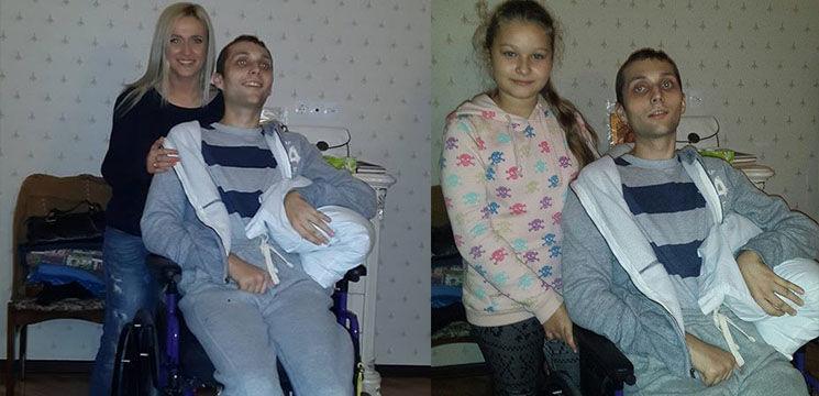 Foto: Tânărul care a suferit un atac cerebral în America a revenit acasă