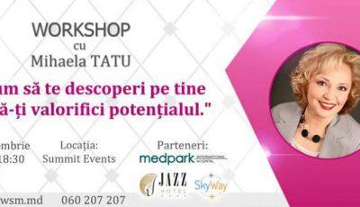 """Mihaela Tatu: """"Cum să te descoperi pe tine și să-ți valorifici potențialul"""""""